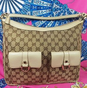 Authentic Gucci GG Monogram Shoulder Bag